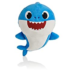 Produced by WowWee for Pinkfong, official creator of the global hit song Baby Shark! Squeeze the tummy to hear 4 verses of the Baby Shark song (English version)! Super soft plush makes this shark your new cuddle buddy! Collect all 3 of your favorite ...