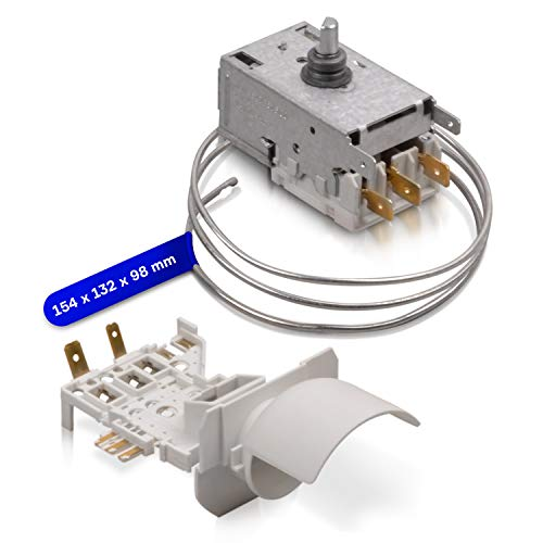 Termostato di ricambio per Ranco K59-S2785 Atea A13-0696R Whirlpool 481228238175 2 x 4,8 mm/1 x 6,3 mm AMP regolatore di temperatura con tubo capillare 690 mm per frigorifero congelatore
