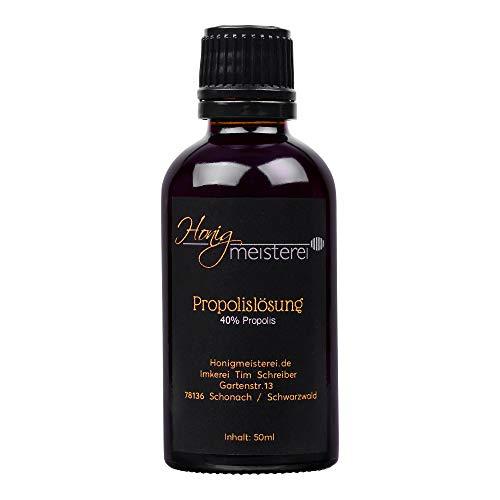 Propolis Tinktur 50ml mit 40% natürlichem Propolis, in bester Qualität direkt vom Hersteller/aus Schwarzwälder Imkerei, Propolis-Tinktur/Propolis-Lösung