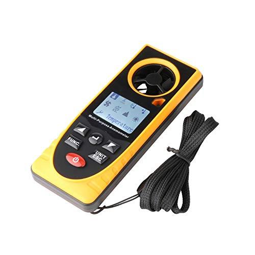 Zcyg Anemometer Wind Speed Meter 8 In 1 / Wetterstation mit Barometer, Temperatur, Höhe, Luftfeuchtigkeit, Windgeschwindigkeit, Taupunkt und Beleuchtungsstärke