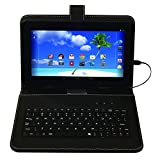 Proscan PLT9774G 9' Touch 8GB Android Tablet Quad Core 1GB w/Keyboard Case - Black