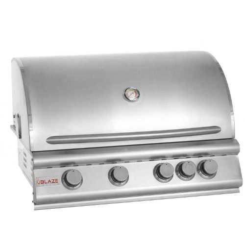 Blaze Grills 32-Inch Built-In 4-Burner Propane Gas Grill with Heat Zone Separators and Rear Infrared Rotisserie Burner