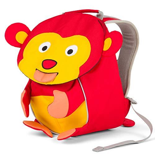 Affenzahn Kleiner Freund - Kindergartenrucksack für 1-3 Jährige Kinder im Kindergarten und Kinderrucksack für die Kita - Albert Affe - Rot