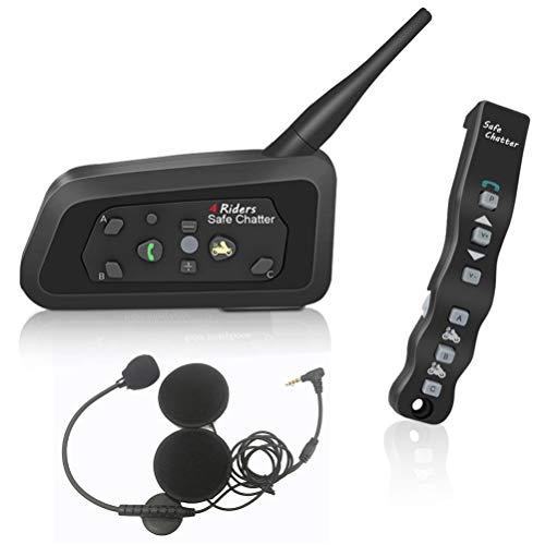 LEXIN A4 Motorradhelm Intercom, Bluetooth Motorrad Headset Kommunikations System für Motorräder, Gegensprechanlage mit Fernbedienung (LX-A4 Einzelpack)