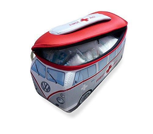 BRISA VW Collection VW T1 Bulli Bus 3D Neopren Mäppchen - First Aid/inkl. Erste-Hilfe Set