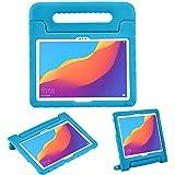 iMoshion kompatibel mit Huawei MediaPad T5 10.1 inch Hülle – Tablethülle für Kinder – Tablet Kids Hülle in Blau mit Griff & Ständer [Robust, Handgriffig, Stoßfest]