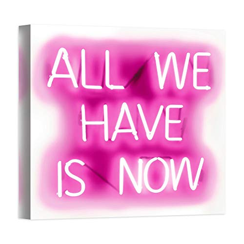 DìMò ART Druck auf Leinwand auf Leinwand, Motiv Carr Hailey Neon All We Have is Now PW
