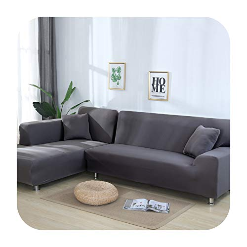 Hylshan Funda elástica para sofá cama de tela antideslizante en forma de L para sofá cama #BB01-10-Funda de almohada x1