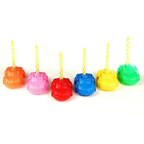 Maison Futée - Décoration De Fête d'anniversaire avec Voitures Porte-Bougies et Bougies - par 6