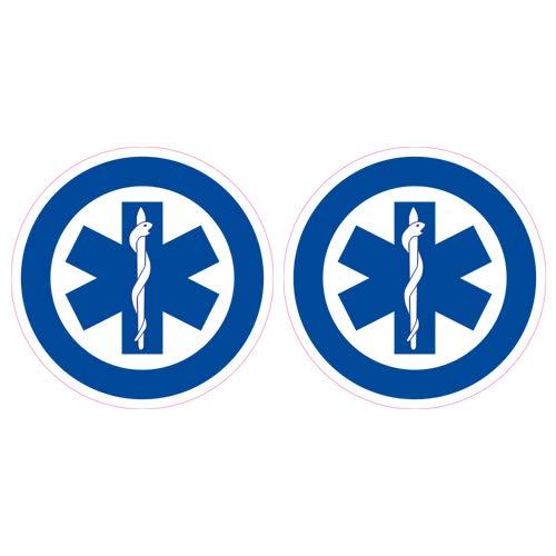 2 Stck Helmaufkleber EMS