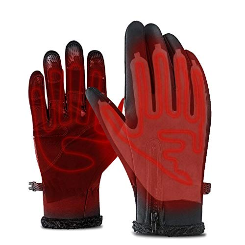 duhe189014 Handschuhheizung, Fünf-Finger-Handschuhe Heizplatte Lithium-Batterie-Netzteil Mit Dreistufenthermostatschalter Heizplatte