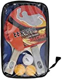 KONEX Table Tennis Racquet ONE Pair with 3 40 MM Balls and Free Carrying CASE
