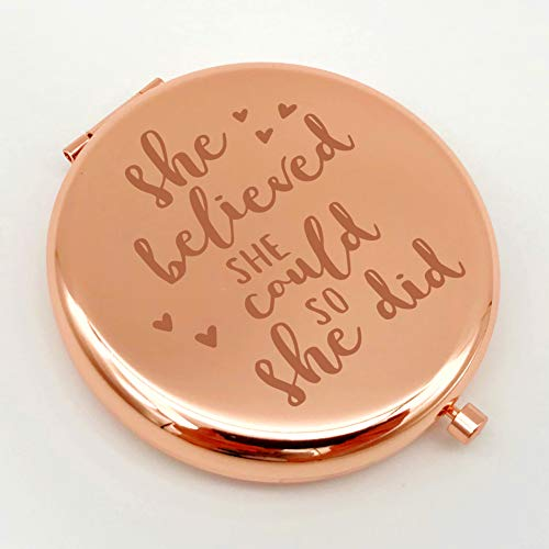 Warehouse No.9 Inspirational Friendship Gifts from Friend Sister, Best Friend Birthday Gift Ideas, for Girls Classmates, Gift for Graduation Christmas Birthday resent for Her (Rose Gold)