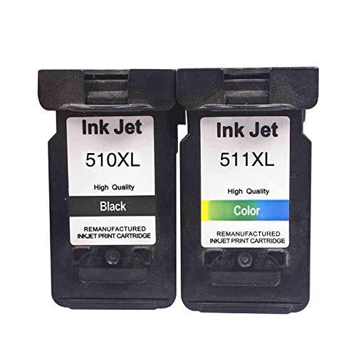 KIT 2 CARTUCCE COMPATIBILI PER CANON PG-510 XL + CL-511 XL NERO + COLORE STAMPANTE PIXMA IP2700 MP240