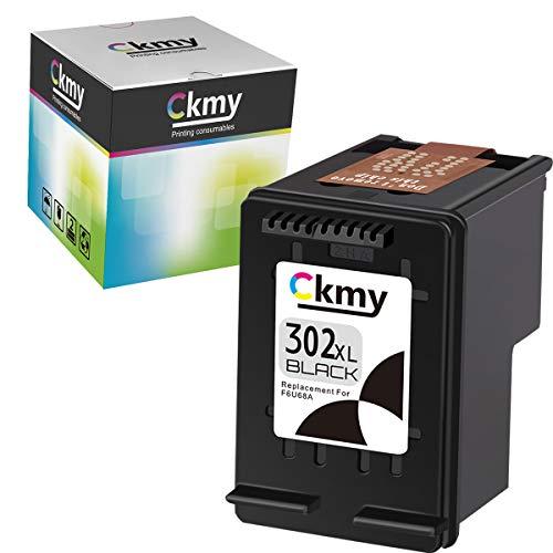CKMY Remanufactured for HP 302 XL 302XL Cartouche Encre (1 Noir) pour HP Officejet 5220 5230 3830 3831 3832 3835 4650 5252 5255 Deskjet 1110 2130 2132 3630 3636 3637 Envy 4520 4524 4525 4527 4655
