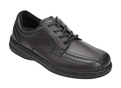 Orthofeet Proven Relief of Heel & Foot Pain. Extended Widths. Best Plantar Fasciitis, Orthopedic, Diabetic Men's Oxford Shoes, Gramercy Black