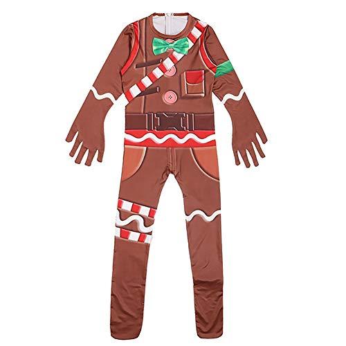 Megacos Kids Gingerbread Man Halloween Navidad Cosplay 140