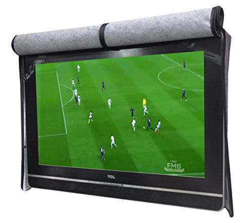 """A1Cover Outdoor 46""""-48"""" TV Set Cover,Scratch Resistant Liner Protect LED Screen Best-Compatible with Standard Mounts and Stands (Black) …"""