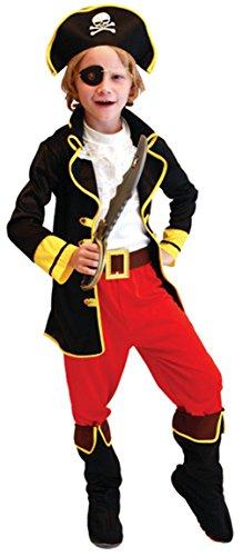 GIFT TOWER Déguisement Pirate Garçon - Costume de Pirate Capitaine pour Enfant Carnaval Halloween (7-9 ans)