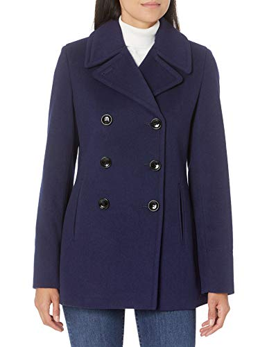 Calvin Klein Womens Double Breasted Peacoat, IND, 8