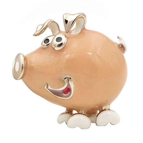 GLKHM Broche Huesos Esmalte Animal Cerdo Broches Mujer Broche Accesorios