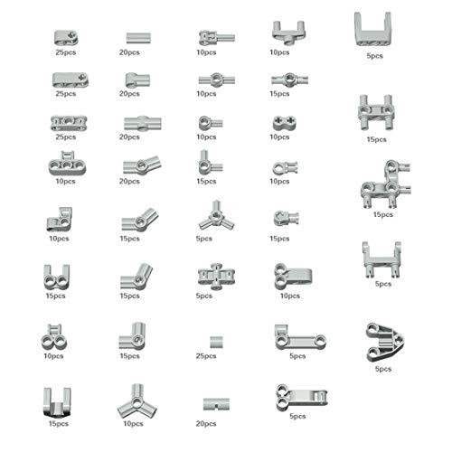 Bulokeliner 505 conectores de eje para piezas de construcción de piezas de construcción estándar compatibles con Lego