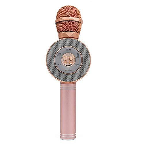 Sntsya Le Voyant Del Clignote luidspreker, microfoon, karaoke, USB-microfoon, draadloos, bluetooth-microfoon, Roze