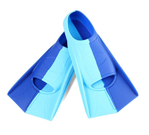 Foyinbet Kids Swim Fins for Lap Swimming, Short Floating Flippers for Snorkeling and Training (X-Small)