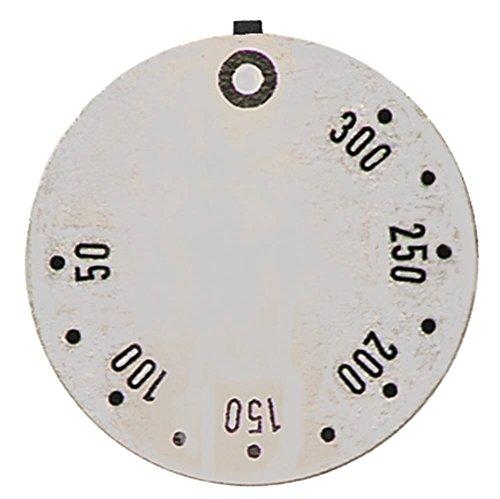 Küppersbusch Knebelsymbol für EHN601, EHN401, EHN801, EGN401, EGN102 für Thermostat Symbol 50-300°C silber Aussen 45mm