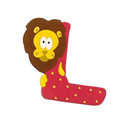 Lettera Decorativa per Nomi Bambini nella stanzetta con Animali Lettera L