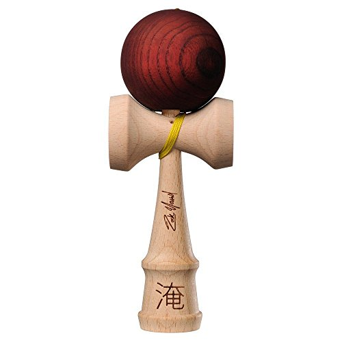 Kendama USA - Pro Model - Zack Yourd - Brown - Extra String - Strengthens Hand and Eye Coordination - Lightweight