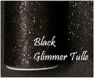 1 X Wedding GLITTER Tulle Roll 6in x 30ft BLACK Sparkling Tulle (10 yards)
