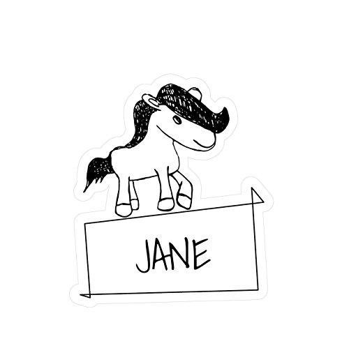 JOllipets baby kindersticker - Jane - variant: Dieren dierentuin - 10cm - Ontwerp: pony