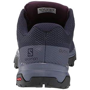 Salomon Women's Outline Hiking Shoes, Evening Blue/Crown Blue/Potent Purple, 8.5