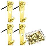 Nrpfell 60 Piezas 30 Libras Colgadero para Fotos con Clavos Ganchos para Colgar Marco de Fotos Cuadros Clavos para Colgar Reloj