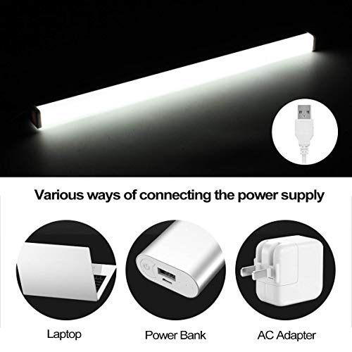 KIODS Tafellamp, led-spiegellamp, met acryl, lampafdekking voor badkamer, slaapkamer, spiegel, wit licht, binnenverlichting 40/50/60 cm