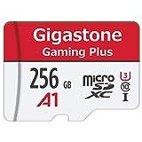 Gigastone Carte Micro SD XC 256 Go UHS-I U1 Classe 10 SDXC avec Adaptateur SD. Vitesse de Lecture allant jusqu'à 95 Mo/s. Compatible avec Nintendo Dashcam GoPro Caméra Samsung Canon Nikon DJI Drone