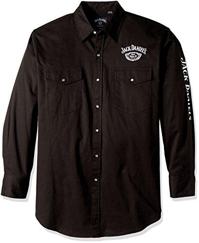 Jack Daniels Men's Daniel's Logo Rodeo Cowboy Shirt