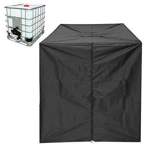 Lona para depósito de agua, resistente al polvo, protección contra rayos UV, adecuada para IBC 1000L, con cremallera, impermeable, protección UV, lona de protección contra el polvo