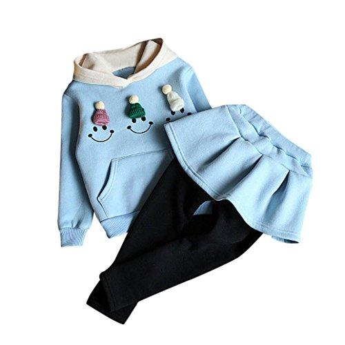Yukong Ensemble de vêtements pour bébé Fille 2 pièces -...