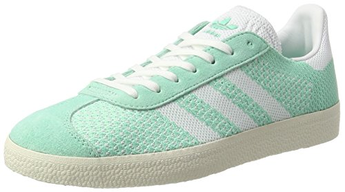 adidas Gazelle Primeknit, Zapatillas para Mujer, Verde (Easy Green/Footwear White/Chalk White), 38 2/3 EU