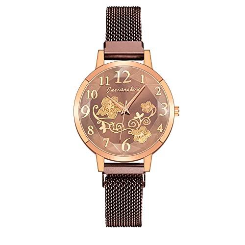 CXJC Multicolor Opcional 36 mm Reloj de Cuarzo Redondo. Reloj Deportivo de Las señoras Impresas de la Moda. (Color : G)