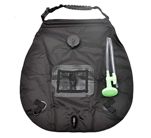Bolsa de ducha solar Anmutigcelle, 20 L, bolsa de ducha de camping al aire libre, portátil con manguera extraíble y cabezal de ducha conmutable, para viajar en la playa, natación y jardín senderismo