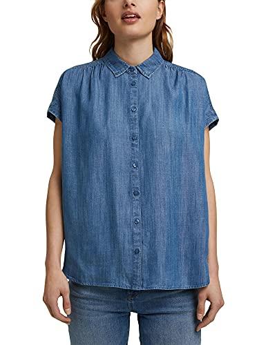 Esprit 041ee1f319 Blusas, Azul Lavado Medio, M para Mujer