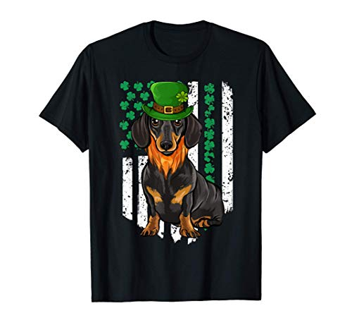 Americana Irlandesa Día San Patricio Dachshund Camiseta