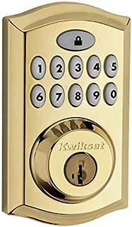 Kwikset 99130-001-R 913 SmartCode Electronic UL Deadbolt Featuring SmartKey in Lifetime Polished Brass (Renewed)