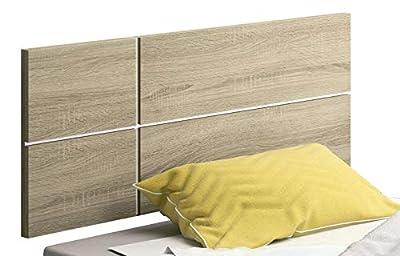 Cabecero de cama para camas individuales, moderno y con estilo. Al mejor precio para el dormitorio. Cabezal de cama en melamina de alta calidad, color cambrian y detalle blanco en la trasera. Fabricación nacional. Medidas: Ancho 100 cm Alto 50 cm Pro...