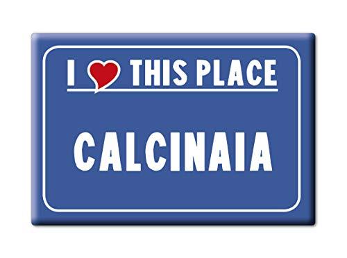 Enjoymagnets CALCINAIA CALAMITA Magnete Toscana (PI) Italia Fridge Magnet Souvenir I Love (VAR. Cartello)