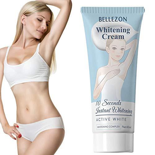 Crème blanchissante sous les bras Jambes Genoux Parties intimes Crèmes corporelles blanchissantes pour les aisselles Essence nourrissante