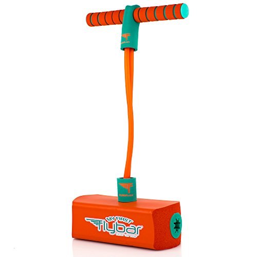Flybar My First Foam Pogo Jumper for Kids Fun and Safe Pogo Stick for Toddlers, Durable Foam and Bungee Jumper for Ages 3 and up, Supports up to 250lbs (Orange)